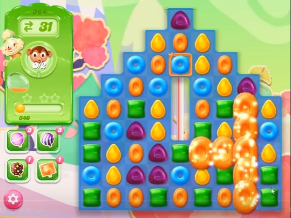 candy crush jelly level 364
