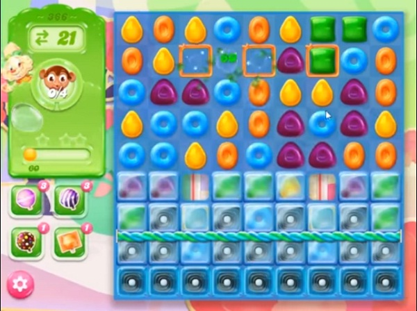 candy crush jelly level 366