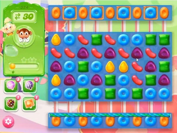 candy crush jelly level 374