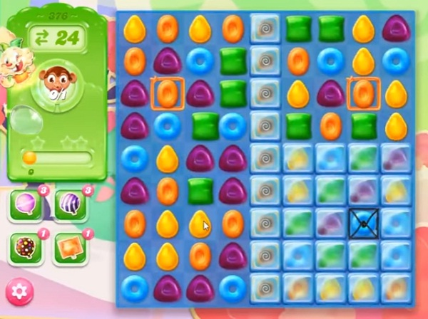 candy crush jelly level 376