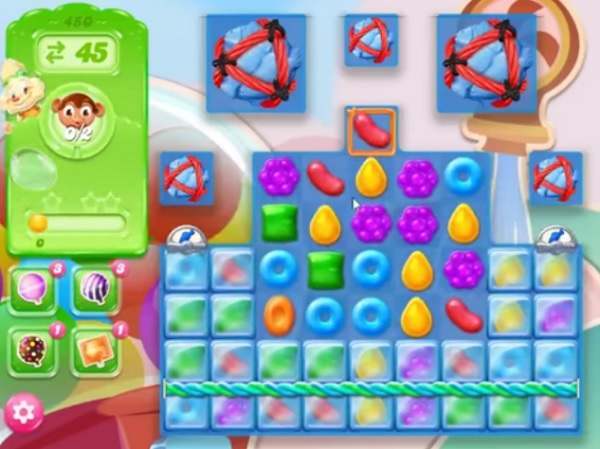 Tips and walkthrough candy crush jelly level 450 for Candy crush fish
