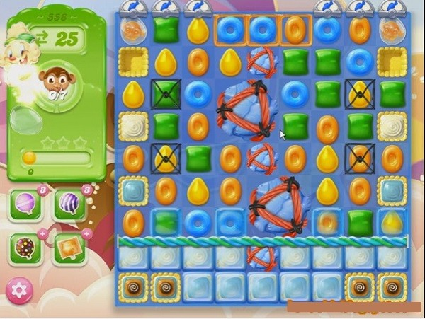 Tips and walkthrough candy crush jelly level 558 for Candy crush fish