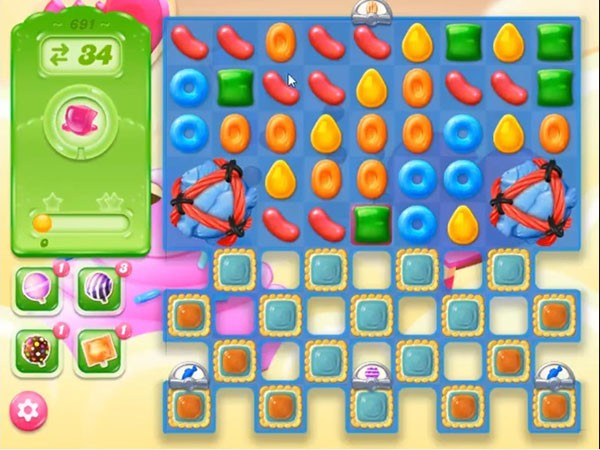 Tips and walkthrough candy crush jelly level 691 for Candy crush fish