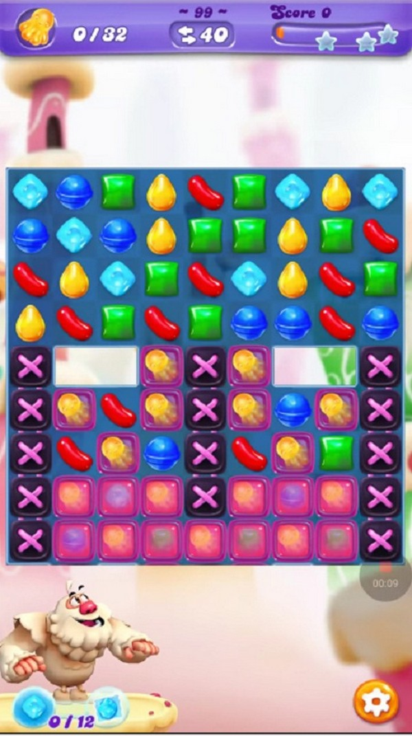 Candy crush level 99 guide.